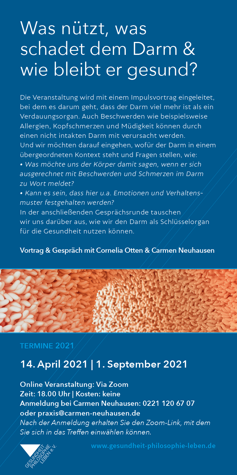 Offener Abend zur Darmgesundheit: Was nützt, was schadet dem Darm und wie bleibt er fit? @ Online auf Zoom | Köln | Nordrhein-Westfalen | Deutschland