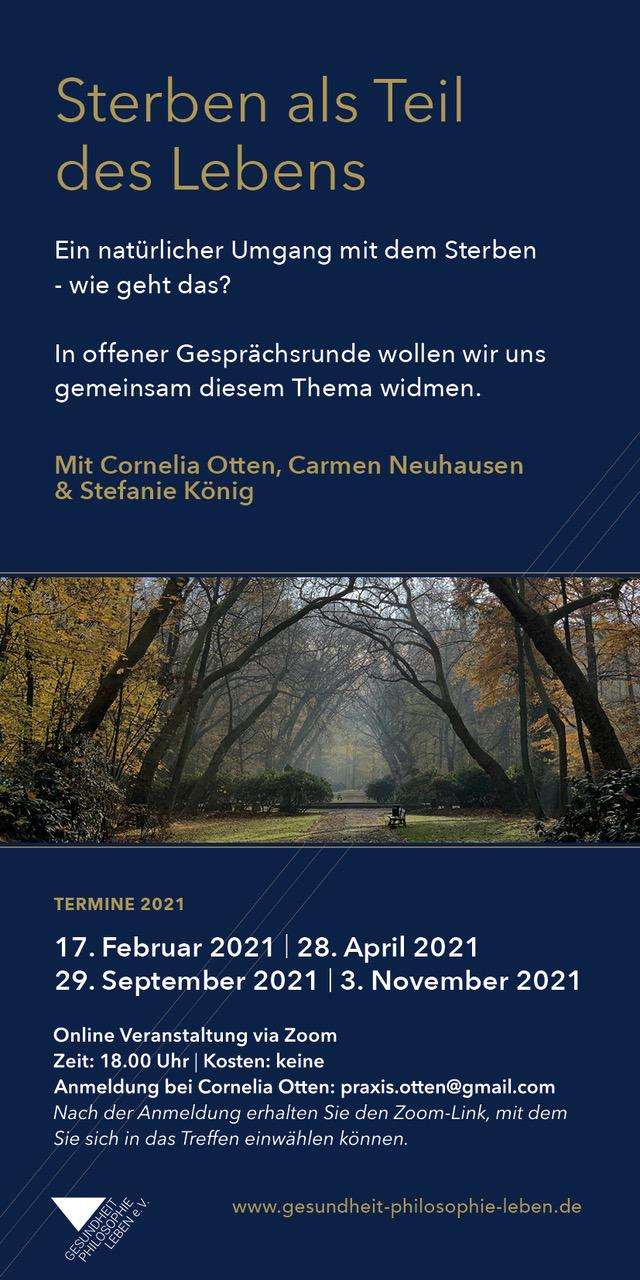 Offener Abend: Sterben als Teil des Lebens @ Online auf Zoom | Köln | Nordrhein-Westfalen | Deutschland